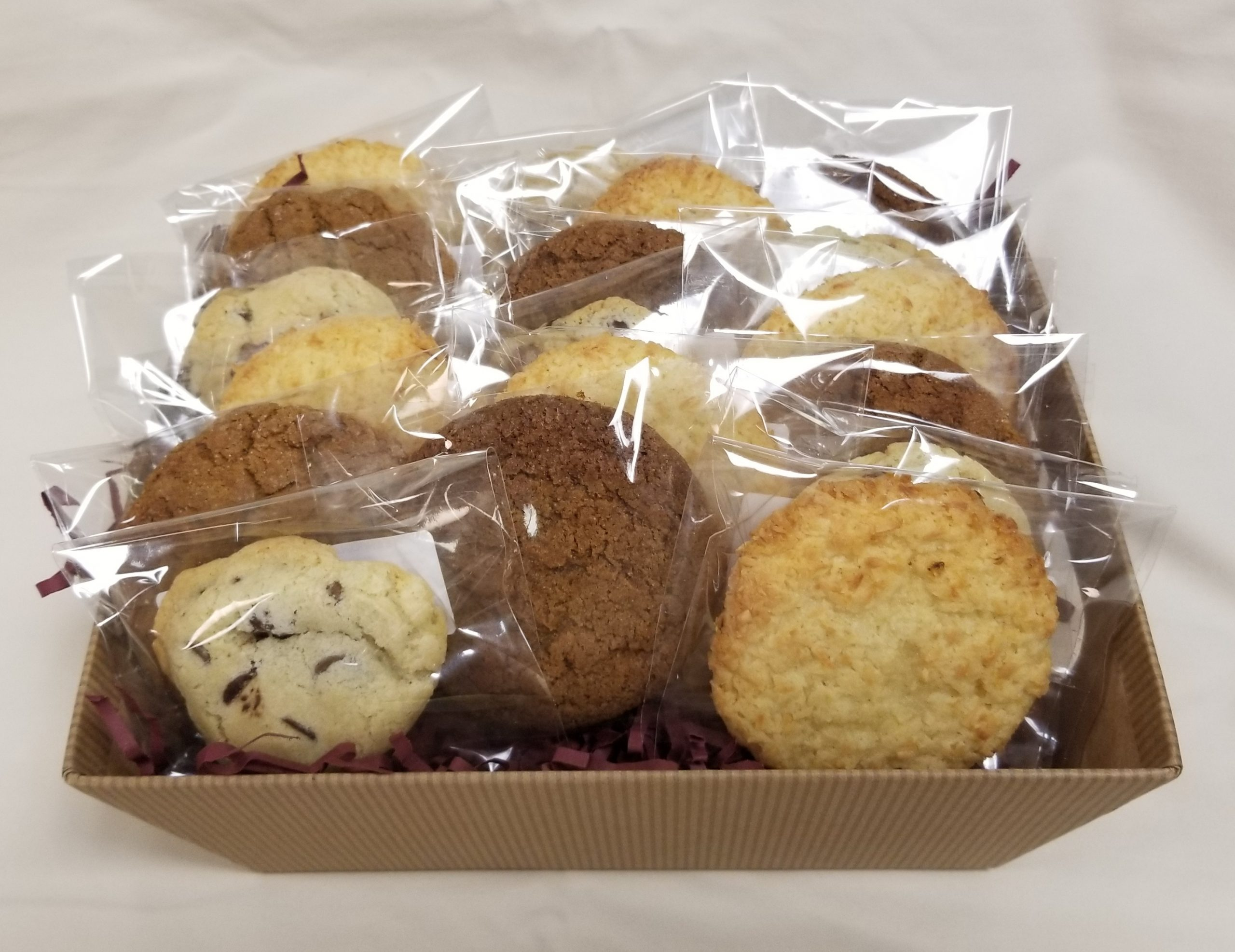 Assorted cookie baskets for business gifts in MA and RI